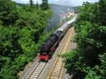 eisenbahnfreunde-zollernbahn/345186/52-7596eisenbahnfreunde-zollernbahn-bei-der-ausfahrt 52 7596(Eisenbahnfreunde Zollernbahn) bei der Ausfahrt aus Alsenz.Sie fuhr am Tag.4 des Dampfspektakels zwischen Hochspeyer und Bad Kreuznach.Aufgenommen am Sa,31.Mai.2014