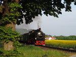 ruegensche-baederbahn/498001/99-1784-0-mit-dem-p-110 99 1784-0 mit dem P 110 am B� Pastitzer Weg kurz vor Putbus am 21.05.2016