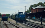 251 901-5 mit P 107 in Putbus am 23.07.2016
